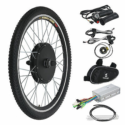 48V 1000W Electric Bicycle Motor Conversion Kit  Exercise Bike Cycle Front Whee