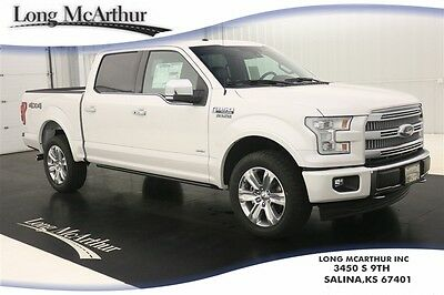 2017 Ford F-150 PLATINUM 4X4 SUPERCREW MSRP $61285 4WD 4 DOOR VOICE NAVIGATION LEATHER SEATS TWIN PANEL MOONROOF REMOTE START