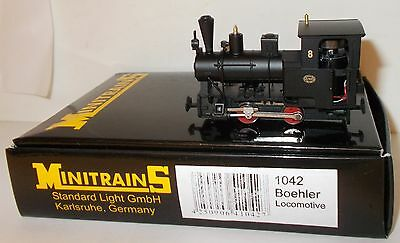 Minitrains 1042 - Boehler 0-4-0T, Black No.8 - Boxed. (009/HOe Narrow Gauge)