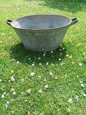 Vintage Galvanised Tub Wash Tin Bath Planter, tiny dog bath