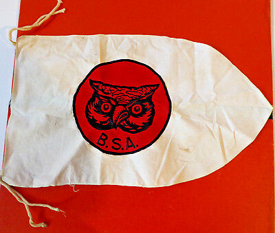 Vintage Bsa Boy Scouts Of America   Owl Flag