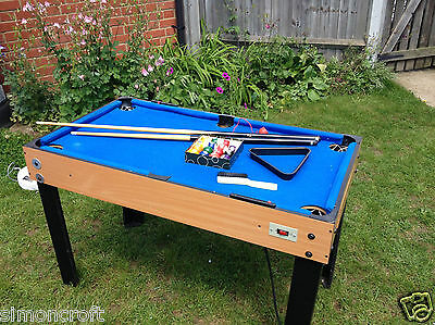 4-in-1 Multi Game 4FT Table - Football, Air Hockey, Pool & Table Tennis by BCE