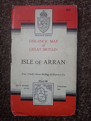 Antique OS Map - Isle Of Arran - Sheet 66 - Seventh Series -Priced at 7/6