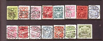 Lettland 15stamps gest
