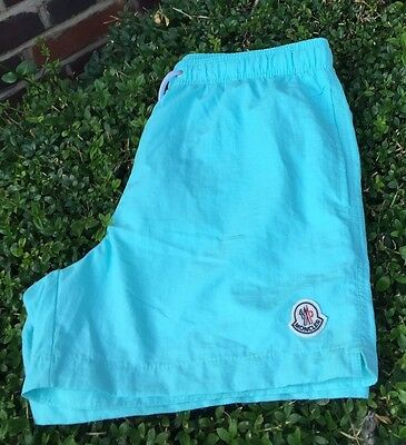 Moncler Men's Swim Shorts Mint Green Size L 34 Waist