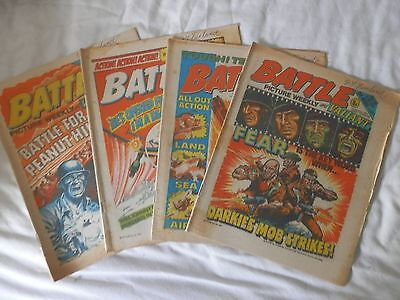 BATTLE and VALIANT comic 4 issues (1977)