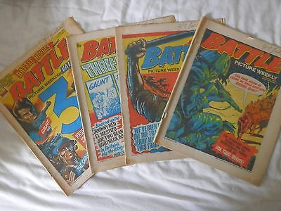 BATTLE comic 4 issues (1977)