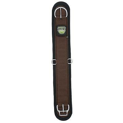 Weaver Leather Neoprene Straight Smart Cinch With Roll Snug Buckle Brown 28