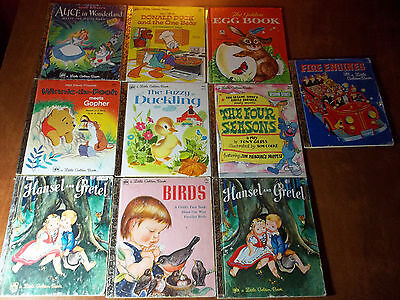 LOT 50+ Used A LITTLE GOLDEN BOOK HARDCOVER KID BOOKS Vintage