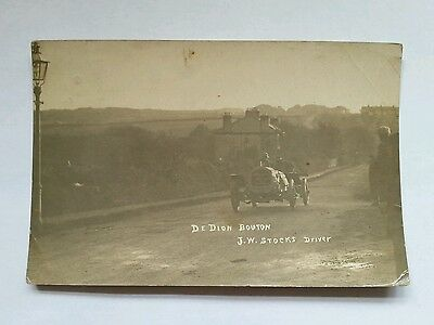RP posted 1908 T.T. Tourist Trophy Race Isle of Man Jack Stocks De Dion Bouton