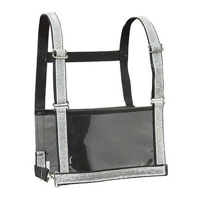 Weaver Adult Exhibitor Number Harness With Overlay, Silver Sparkle