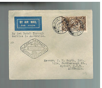 1931 England First Flight Cover via KLM to Australia via Batavia # 173a on cover