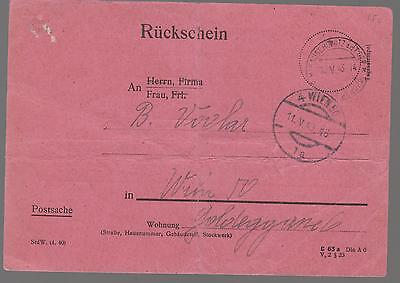 1943 Germany Theresienstadt Concentration Camp Cover Money Order Deposit Receipt