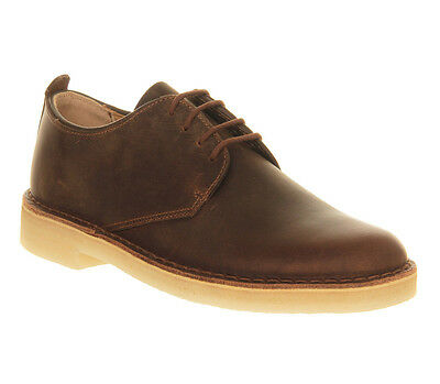 Mens Clarks Originals Brown  Leather Lace Up  Casual UK Size 10 * Ex Display