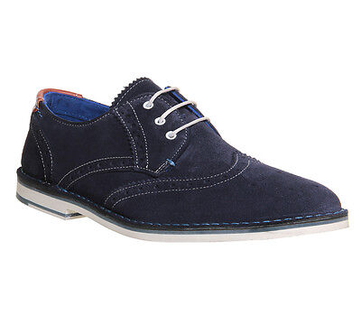 Mens Ted Baker Blue Suede Lace Up  Casual Shoes UK Size 10 * Ex Display