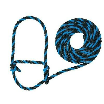 Weaver Rope Cow Halter with 7-Foot Lead, Cow Hurricane Blue/Black