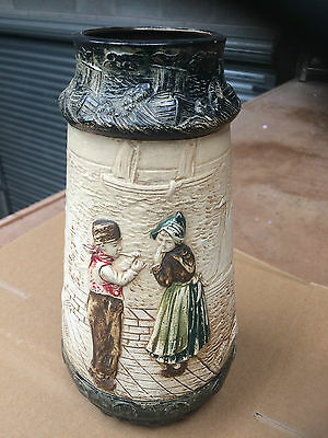 "Victorian ""bretby"" Large Vase"