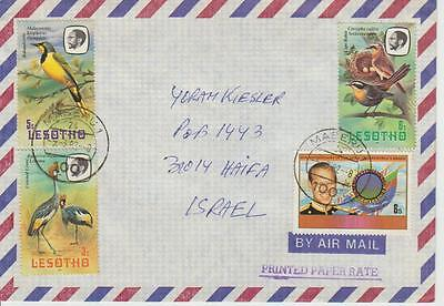 1982 Lesotho cover to Israel