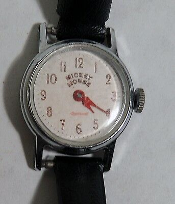 M787 Walt Disney Character Names MICKEY MOUSE Wrist Watch by Ingersoll (1958)[