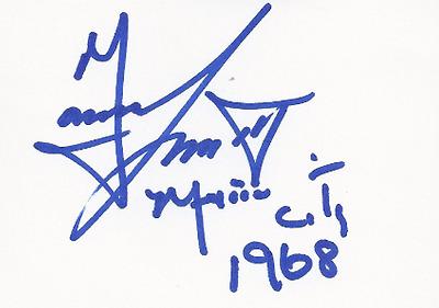 Autographe Tommie SMITH,USA,Jeux Olympiques 1968 Mexico Champion Olympique 200m