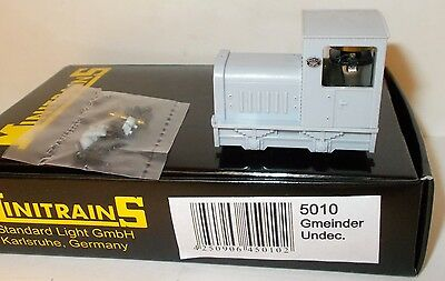 Minitrains 5010 - Gmeinder Diesel, Undecorated - Boxed. (009/HOe Narrow Gauge)