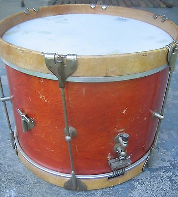 """Revere"" E.W. Kent Drum w/ Key. Marching Parade Snare. Wood. 14x10.1950s-1960s."
