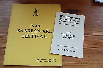 Shakespeare Memorial Theatre 1949 Festival brochure with programme