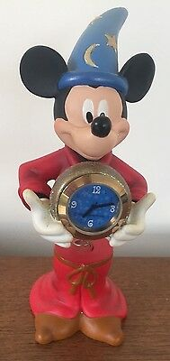 Disney Mickey Mouse Sorcerers Apprentice Figurine with Clock & wobbly spring