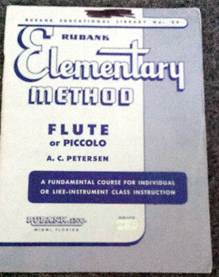 RUBANK Elementary Method FLUTE or PICCOLO Petersen No 38 Music Instruction BOOK