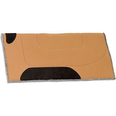 Weaver Leather Canvas Top Western Saddle Pad, Brown