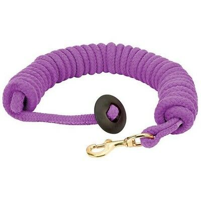 """Weaver Leather Rounded Cotton Lunge Line - 3/4""""X25 Purple Jazz"""