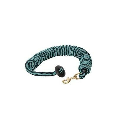 Weaver Leather Round Cotton Lunge Line, Black/Turquoise