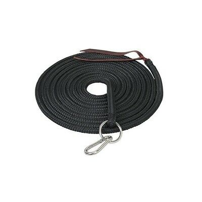 Weaver Silvertip Lunge Line With Ring And Snap, Black, 1/2-Inch X 22-Feet