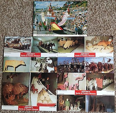Lot of 5 Postcards Jersey Battle of Flowers Museum & Parade