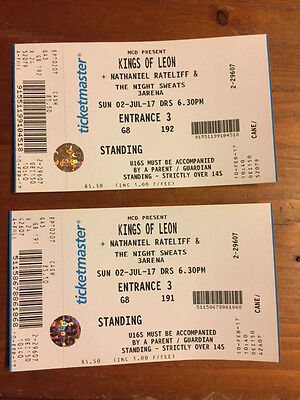 Kings of Leon 2nd July at 3Arena Dublin x 2