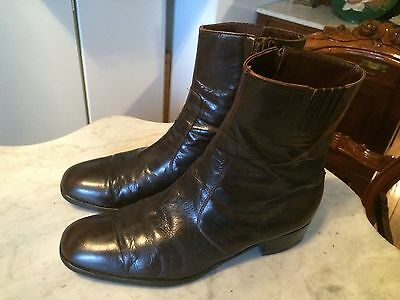 vintage Beatles hipster rockabilly booties disco 1970 mens boots sz 10 2E