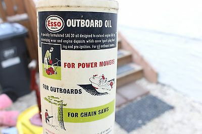 Vintage Plastic Imperial Esso outboard oil bottle Can Sign Boat Mower Chainsaw