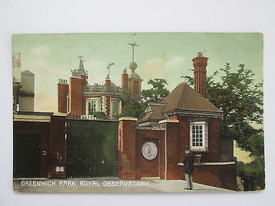 Vintage Postcard - Royal Observatory , Greenwich Park , London .