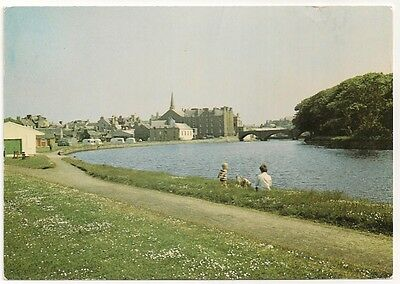 Old Postcard Wick From River, Caithness 1983 - Caravans - Tourers