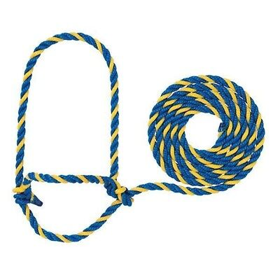 Weaver Leather Cattle Rope Halter Blue/Yellow