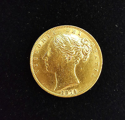 1874 Victoria Young Head Full Sovereign