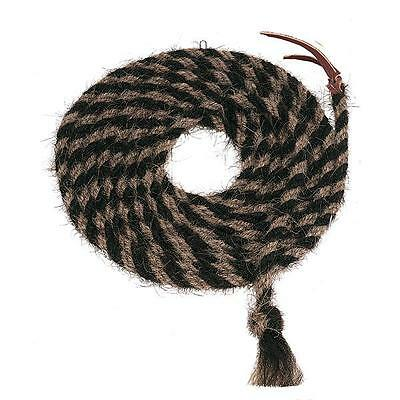 """Weaver Leather Hand-Braided Mecate Tail Hair 5/8"""" x 20' Black/Light Brown"""