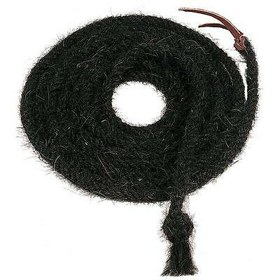 """Weaver Leather Tail Hair Hand-Braided Mecates - Black 5/8"""" x 20'"""