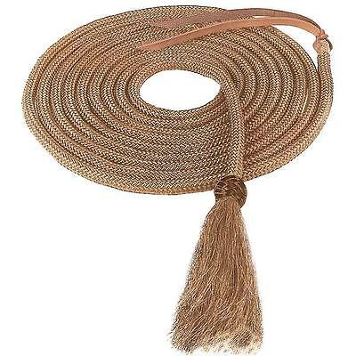 """Weaver Leather Nylon Mecate With Horsehair Tassel - Tan 1/2""""X23"""
