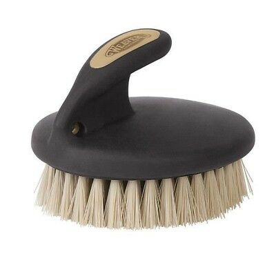 Weaver Leather Palm-Held Face Brush With Soft Bristles Black/Beige