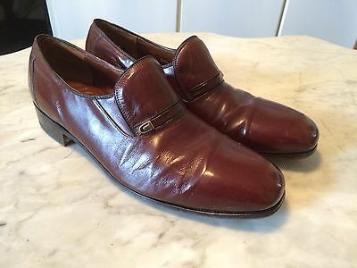 RARE DACK'S vintage '80 kangaroo leather mens dress loafers  shoes sz 9.5