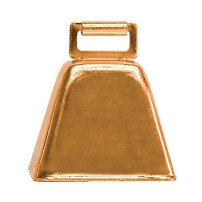 Weaver 2-1/2X2-1/4 Copper Plated Steel Cow Bell