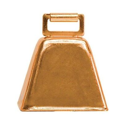 "Weaver Livestock 2-1/2"" x 2-1/4"" Copper Plated Steel Cow Bell for Neck Straps"