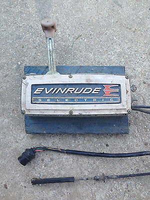 Evinrude Selectric Throttle Shift Control Box 14' Cable Outboard Boat Johnson