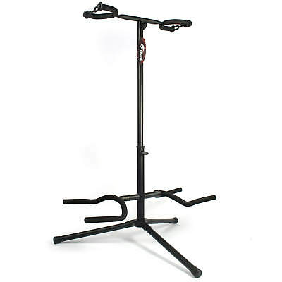 Double Guitar Stand - Fits Electric, Acoustic, Bass & Classic